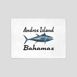 Andros Island Tuna Fishing 5'x7'Area Rug