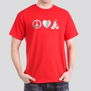 peace love linux Dark T-Shirt