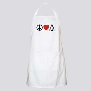 peace love linux BBQ Apron