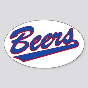 beers baseketball Oval Sticker