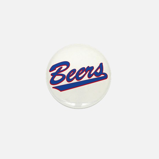 beers baseketball Mini Button