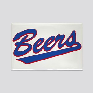 beers baseketball Rectangle Magnet