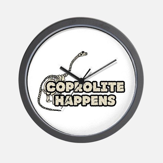 COPROLITE HAPPENS Wall Clock