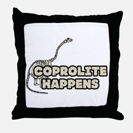 COPROLITE HAPPENS Throw Pillow