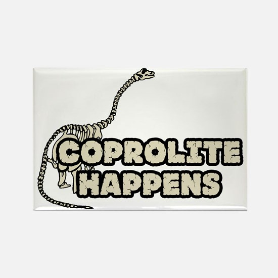 COPROLITE HAPPENS Rectangle Magnet