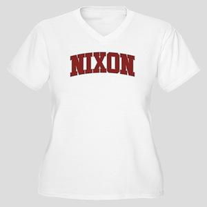 NIXON Design Women's Plus Size V-Neck T-Shirt