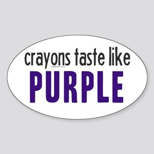 Crayons Taste Like Purple Oval Sticker