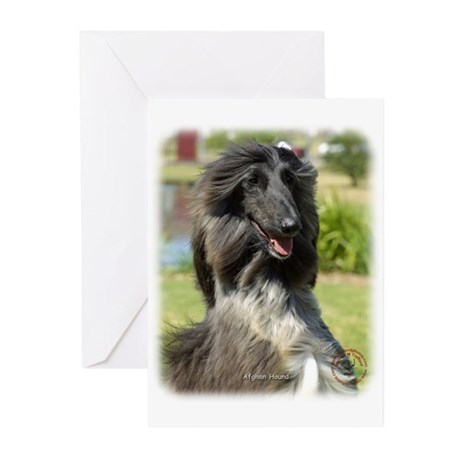 Afghan Hound 9P040D-65 Greeting Cards (Pk of 10)