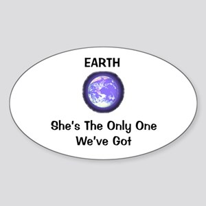 Earth Oval Sticker