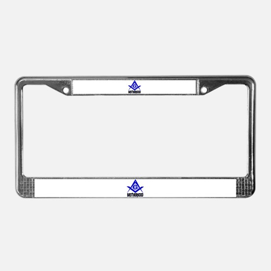 Freemason BROTHERHOOD License Plate Frame