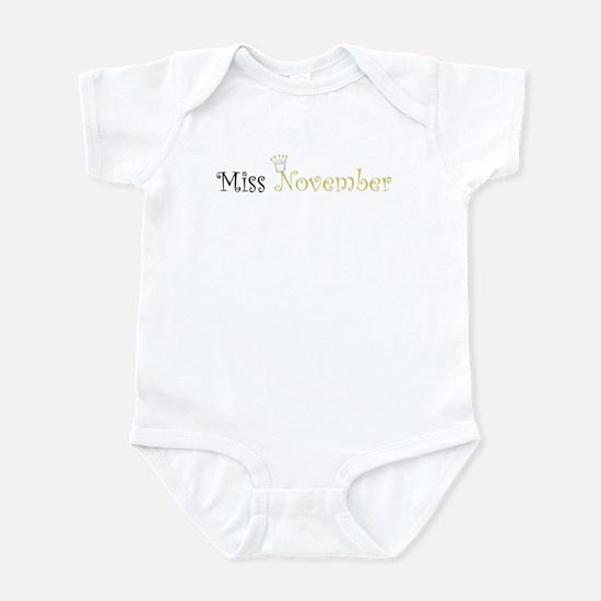 Miss November Princess Infant Bodysuit