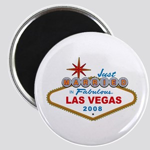 Just Married In Fabulous Las Vegas 2008 Sign Magne