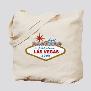 Just Married In Fabulous Las Vegas 2008 Sign Tote