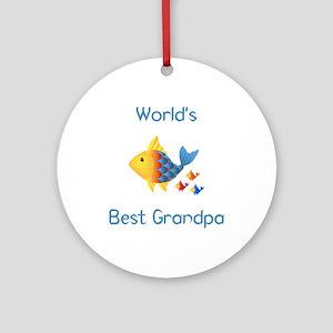World's Best Grandpa (fish) Ornament (Round)