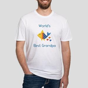 World's Best Grandpa (fish) Fitted T-Shirt