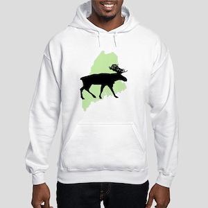 Go Green Maine Moose Hooded Sweatshirt