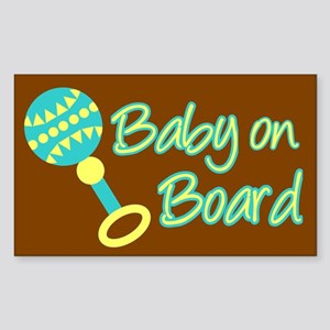 Baby on Board Rectangle Sticker
