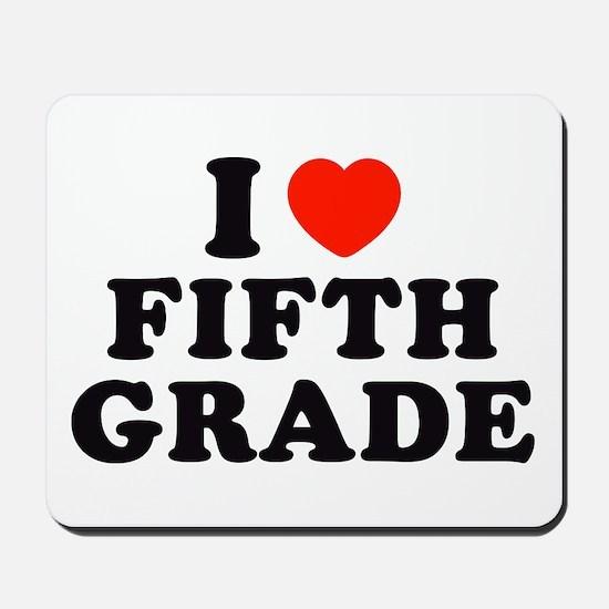 I Heart/Love Fifth Grade Mousepad