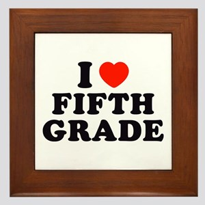 I Heart/Love Fifth Grade Framed Tile