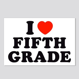 I Heart/Love Fifth Grade Postcards (Package of 8)