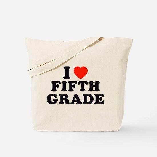 I Heart/Love Fifth Grade Tote Bag