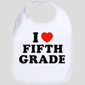 I Heart/Love Fifth Grade Bib