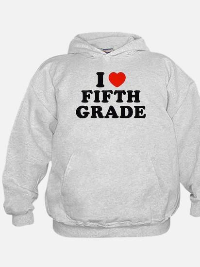 I Heart/Love Fifth Grade Hoody
