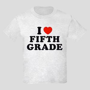 I Heart/Love Fifth Grade Kids Light T-Shirt