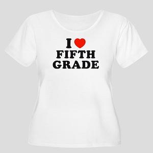 I Heart/Love Fifth Grade Women's Plus Size Scoop N