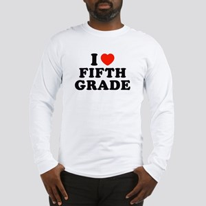 I Heart/Love Fifth Grade Long Sleeve T-Shirt