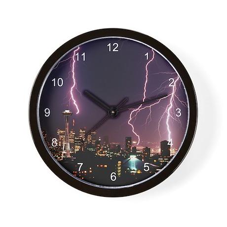 Seattle Lightening Wall Clock