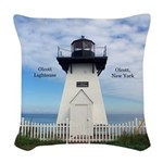 Olcott Lighthouse Woven Throw Pillow