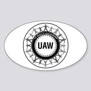 UAW Oval Sticker
