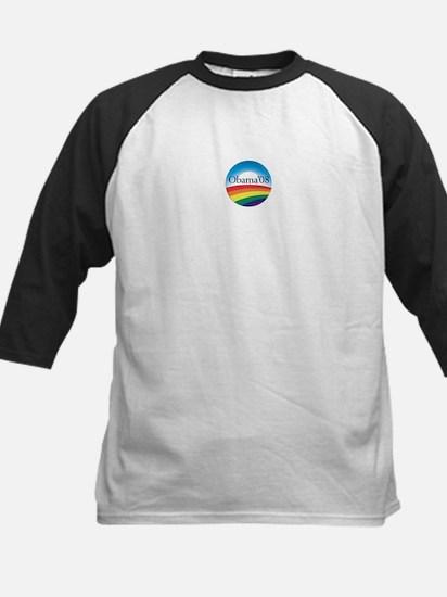Barack Obama Rainbow Logo Kids Baseball Jersey