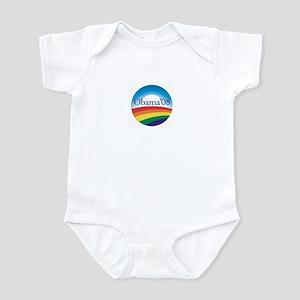 Barack Obama Rainbow Logo Infant Bodysuit