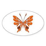 'Butterfly Tattoos Sticker (Oval 50 pk)