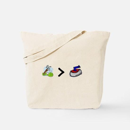Golf > Curling Tote Bag