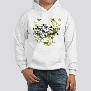 Darwin Noble - Animals and Floral Hooded Sweatshir
