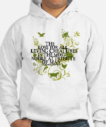 Darwin Noble - Animals and Floral Jumper Hoody