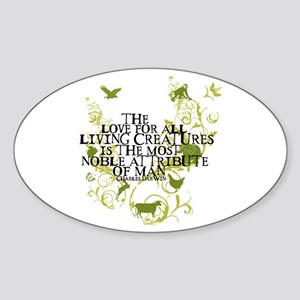 Darwin Noble - Animals and Floral Oval Sticker