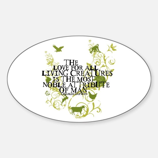 Darwin Noble - Animals and Floral Oval Decal
