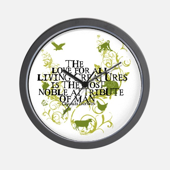 Darwin Noble - Animals and Floral Wall Clock