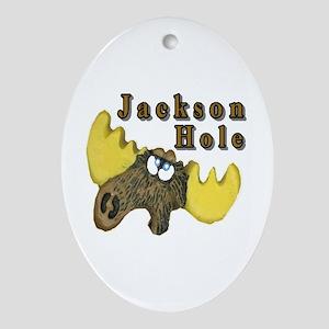 Jackson Hole moose Oval Ornament