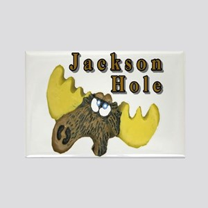 Jackson Hole moose Rectangle Magnet