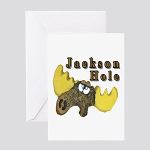 Jackson Hole Moose Card Greeting Cards