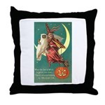 Witch and Owl Throw Pillow