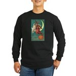 Witch and Owl Long Sleeve Dark T-Shirt