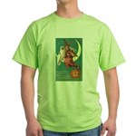 Witch and Owl Green T-Shirt