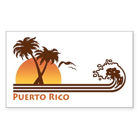Puerto Rico Rectangle Sticker