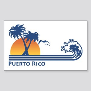 Puerto Rico Rectangle Sticker